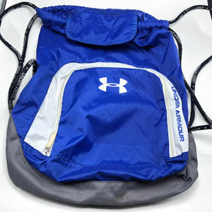 Under Armour backpack blue travel bag luggage zip